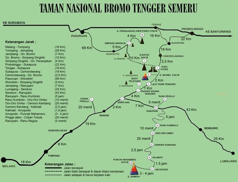 Jalur Pendakian TNBTS